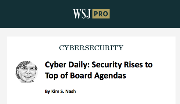 Boards Adding Cybersecurity Committees, Wall St. Journal Reports