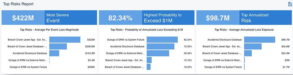 RiskLens Platform - Rapid Risk Assessment - Top Risks
