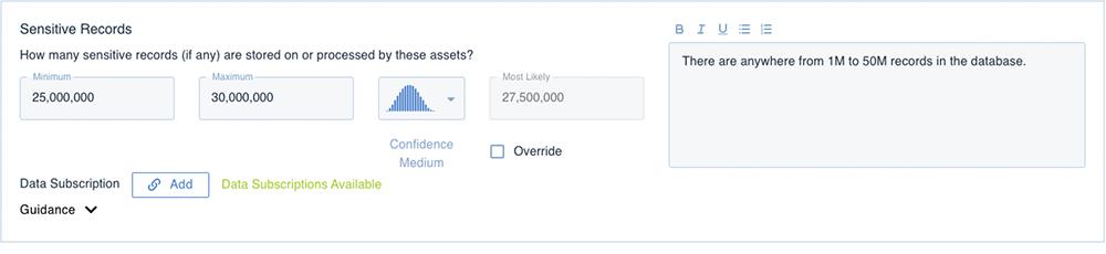 RiskLens Platform - Records Count for Detailed Analysis