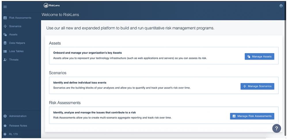 RiskLens-Platform-Welcome-Screen