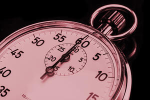 Stopwatch Red - Think Fast -  Justify and Prioritize Investment Decisions in an Hour