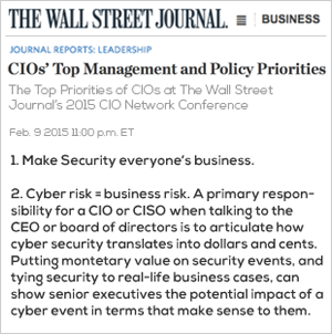 Wall Street Journal - Top CIO Priorities
