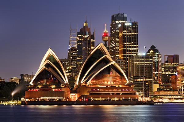 Sydney Opera House on Sydney Harbor in Sydney, Australia